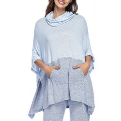 Ink + Ivy Womens Colorblock Lounge Poncho