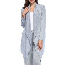 Ink + Ivy Womens Colorblock Long Sleeve Lounge Wrap