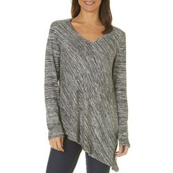 Piper & Taylor Womens Space Dye Asymmetrical Pajama Top