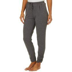 Piper & Taylor Womens Solid Scrunch Hem Jogger Pajama Pants