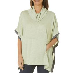 Piper & Taylor Womens Heathered Poncho Lounge Top