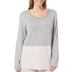 Piper & Taylor Womens Colorblock Split Back Lounge Top