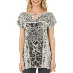 Piper & Taylor Womens Solid Quarter Sleeve Lounge T-Shirt