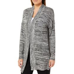 Piper & Taylor Womens Space Dye Open Front Sweater Wrap