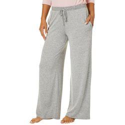 Piper & Taylor Womens Heathered Pocket Long Pajama Pants