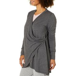 Piper & Taylor Womens Draped Long Sleeve Lounge Top