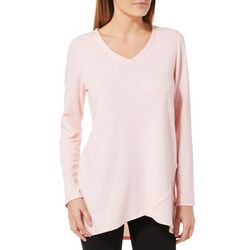 Piper & Taylor Womens Heathered Long Sleeve Pajama Top