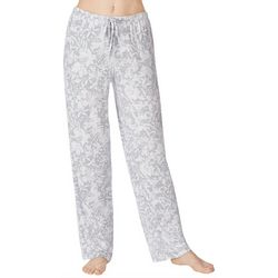 Ellen Tracy Womens Heathered Floral Lounge Pajama Pants