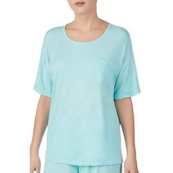 Piper & Taylor Womens Solid Boxy Short Sleeve Pajama Top