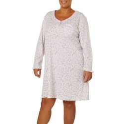 Karen Neuburger Plus Ditsy Floral Nightgown