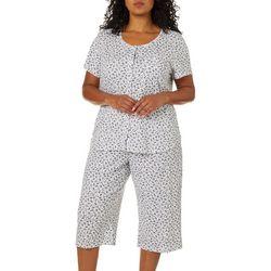 Karen Neuburger Plus Ditsy Floral Print Pajama Capris Set