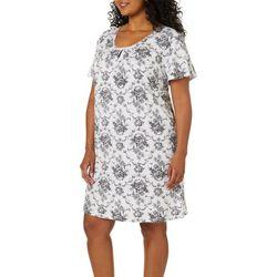 Karen Neuburger Plus Toile Nightgown