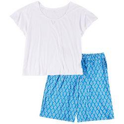 Karen Neuburger Plus 2-Pc. Keyhole Pajama Bermuda Set