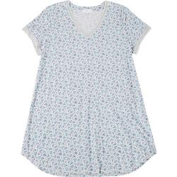 Plus Womens Floral Lacey Night Shirt