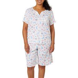 Karen Neuburger Plus Floral Butterfly Bermuda Pajama Set