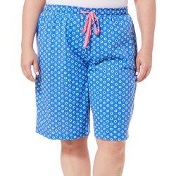 Karen Neuburger Plus Geo Bermuda Shorts