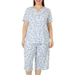 Karen Neuburger Plus 2-Pc. Toile Print Pajama Capris Set