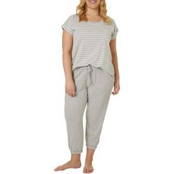 Plus Live Love Lounge Striped Pajama Set