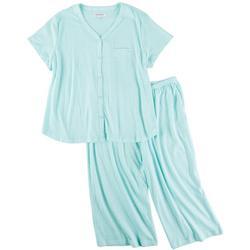 Plus Marquise Cardigan Pajama Pants Set