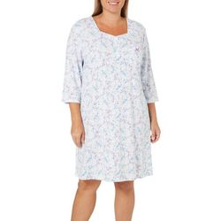 Karen Neuburger Plus Free Bird Floral Pocket Nightgown
