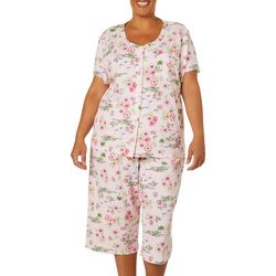 Karen Neuburger Plus Tropical Island Print Pajama Capris Set