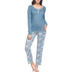 Ink + Ivy Plus Boho Tile Henley Pajama Pants Set