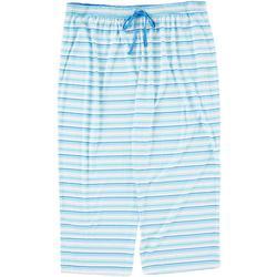 Womens Plus Cropped Stripe Pajama Pants