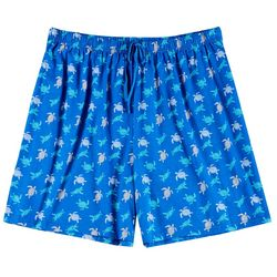 Goodnight Kiss Womens Plus Turtle Pajama Boxer Shorts