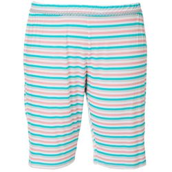 COOL GIRL Plus Stripe Print Pajama Bermudas