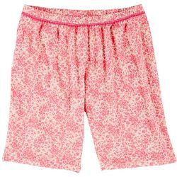 COOL GIRL Plus Leopard Print Pajama Bermudas