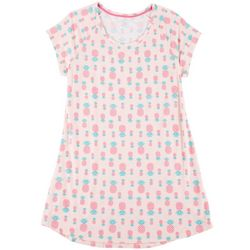 Plus Pineapple Print T-Shirt Nightgown