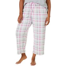 COOL GIRL Plus Plaid Print Pajama Capris