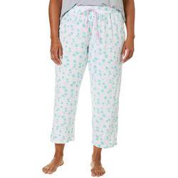 COOL GIRL Plus Palm Tree Print Pajama Capris