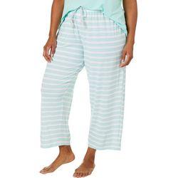 COOL GIRL Plus Stripe Print Pajama Capris