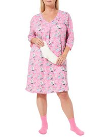 Coral Bay Plus Holiday Flamingo Nightgown & Socks Set