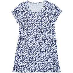 Plus Leopard Short Sleeve T-Shirt Nightgown