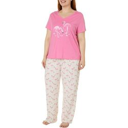 Coral Bay Plus Pink Flamingos Pajama Set