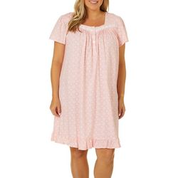 Aria Plus Moraccan Tile Print Short Nightgown