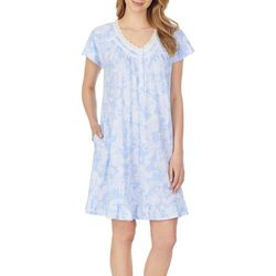Aria Plus Paisley Print Short Nightgown