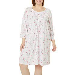Aria Plus Floral Print Short Nightgown