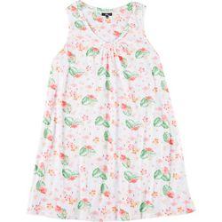 Aria Plus Flamingo V-Neck Sleeveless Nightgown