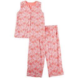 Aria Plus Bright Paisley 2 Pc. Pajama Capris Set