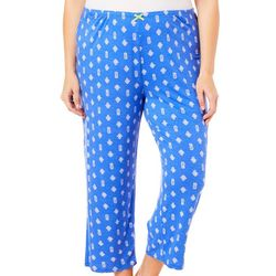 Ellen Tracy Plus Pineapple Cropped Pajama Pants