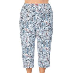 Ellen Tracy Womens Plus Paisley Pajama Capris