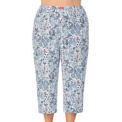 Womens Plus Paisley Pajama Capris
