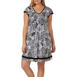Ellen Tracy Plus Essentials Paisley Nightgown