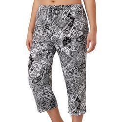 Ellen Tracy Plus Paisley Sleep Capris