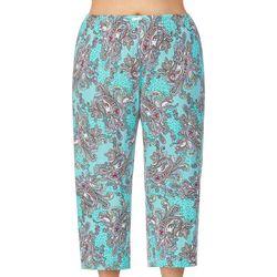 Plus Paisley Print  Pajama Capris