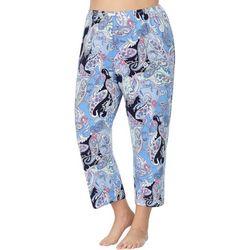 Ellen Tracy Plus Paisley Print Pajama Capris