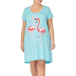 Ellen Tracy Plus Flamingo T-Shirt Nightgown